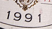 vente de vin ancien année 1991