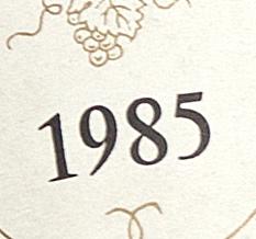 vente bouteille vin 1985