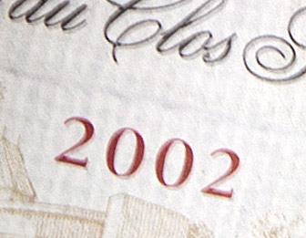 vente de vin ancien année 2002