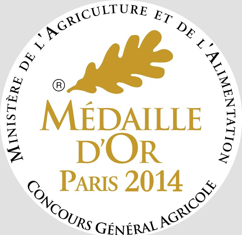 medaille or concours agricole 2014