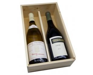 2 vins prestige dans un coffret bois