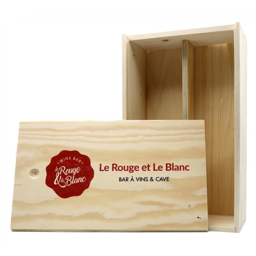 Coffret vin bois personnalisable