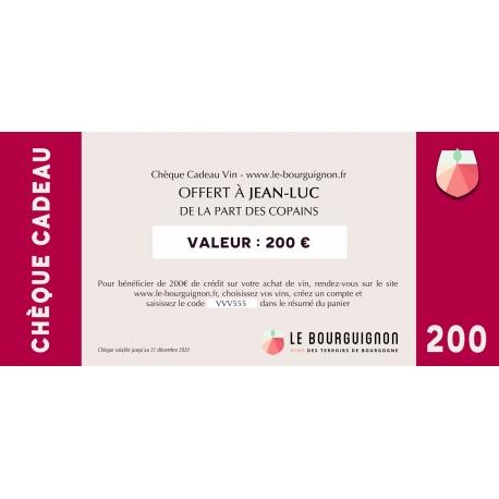 Burgundy Wine Gift Voucher - 200 €