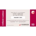 Chèque Cadeau vin 50