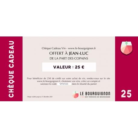 Wine Gift Voucher - 25 €