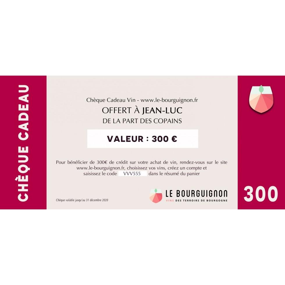 Chèque Cadeau vin 300 €