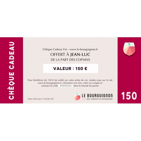 Burgundy Wine Voucher - 150 €
