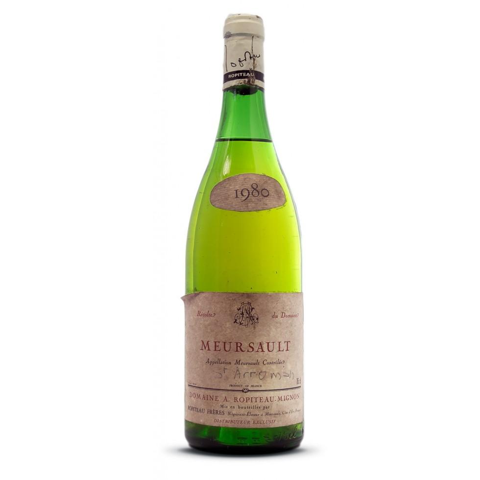 meursault bouteille vin 1980