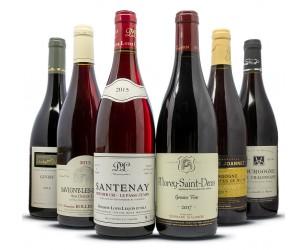 Caja de regalo de vino tinto de Borgoña