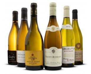 assortiment vins blancs de bourgogne