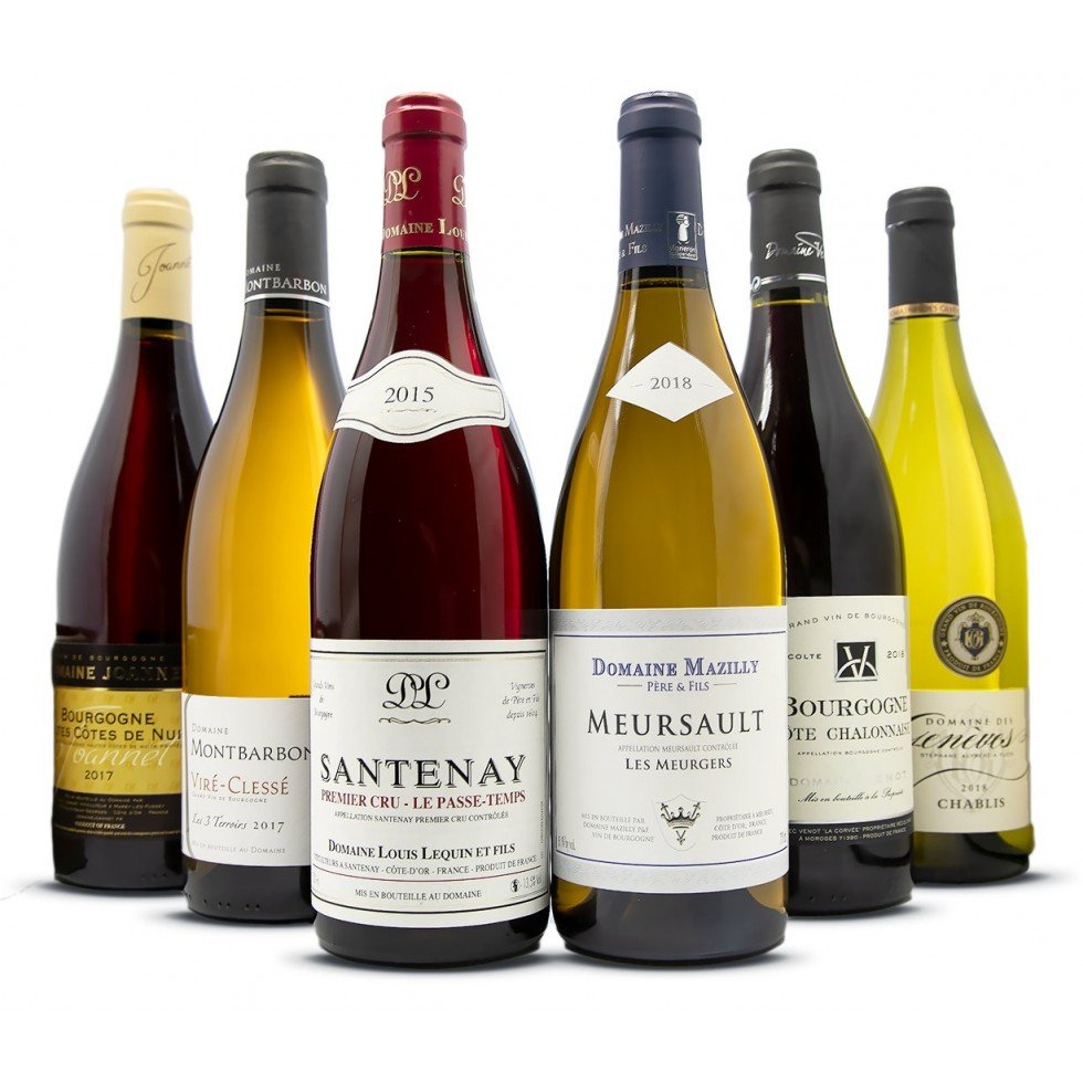 Burgundy discovered wine assortment