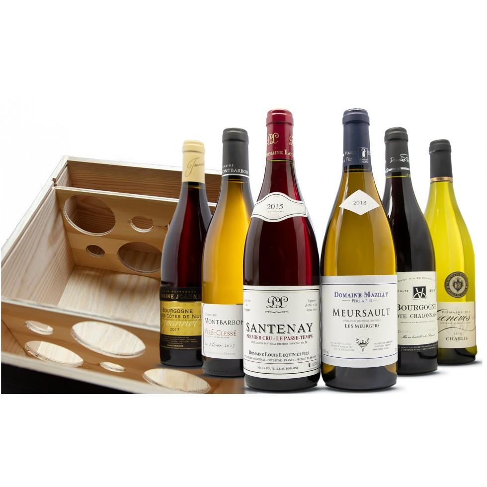 caja de descubrimiento de vino burdeos
