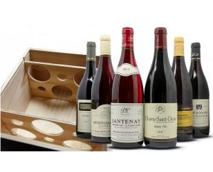 Scatola di vino rosso della Borgogna