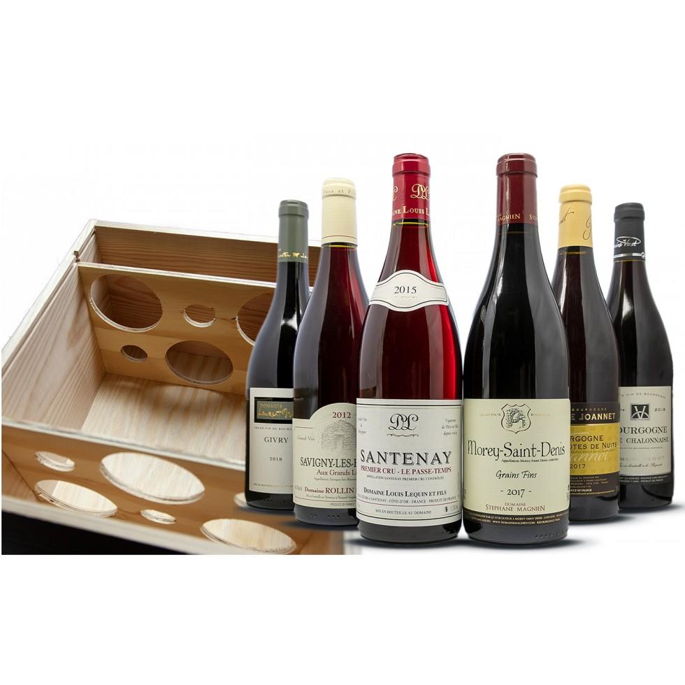 Burgundy red wine box