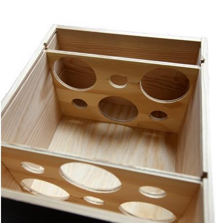 coffret cadeau bois 6 bouteilles de vin faites livrer votre vin dans une caisse en bois. Black Bedroom Furniture Sets. Home Design Ideas