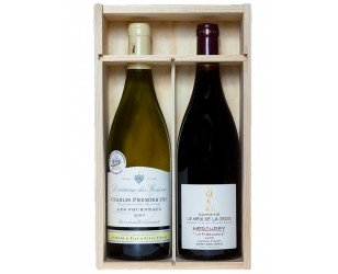 2 bouteilles prestige en coffret vin Noël