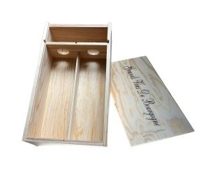 Wooden gift box 1 bottle