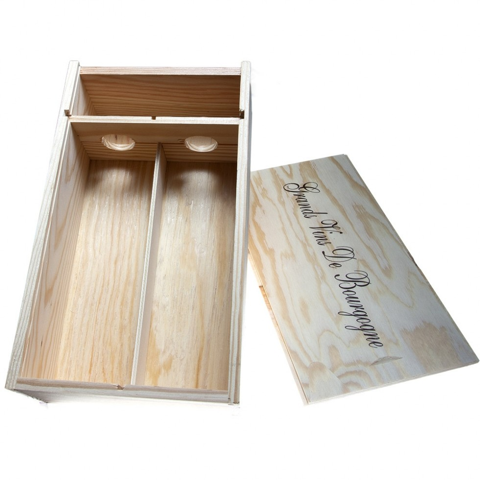 Wooden gift box 1 bottle
