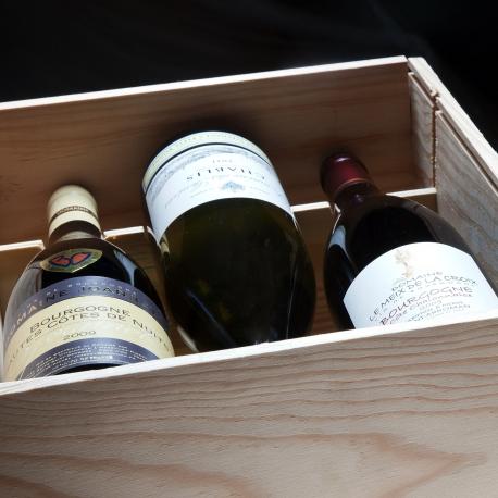 geschenkdoos hout 6 wijnen Ontdekken van de Bourgogne - Kerst