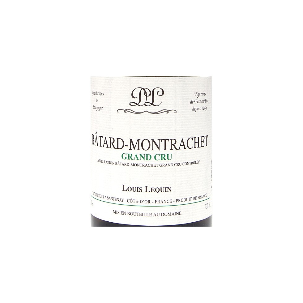 Label Batard Montrachet Grand Cru