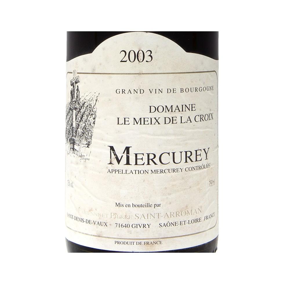 Label wine Mercurey 2003