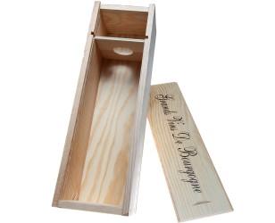 De doos van de Gift hout 1 fles wijn