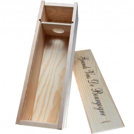 gift set-hout 1 fles wijn