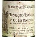 Etiquette Chassagne Montrachet 1998 Blanc