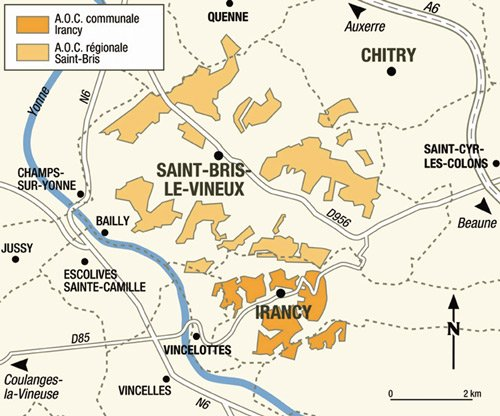 carte appellation vin saint bris